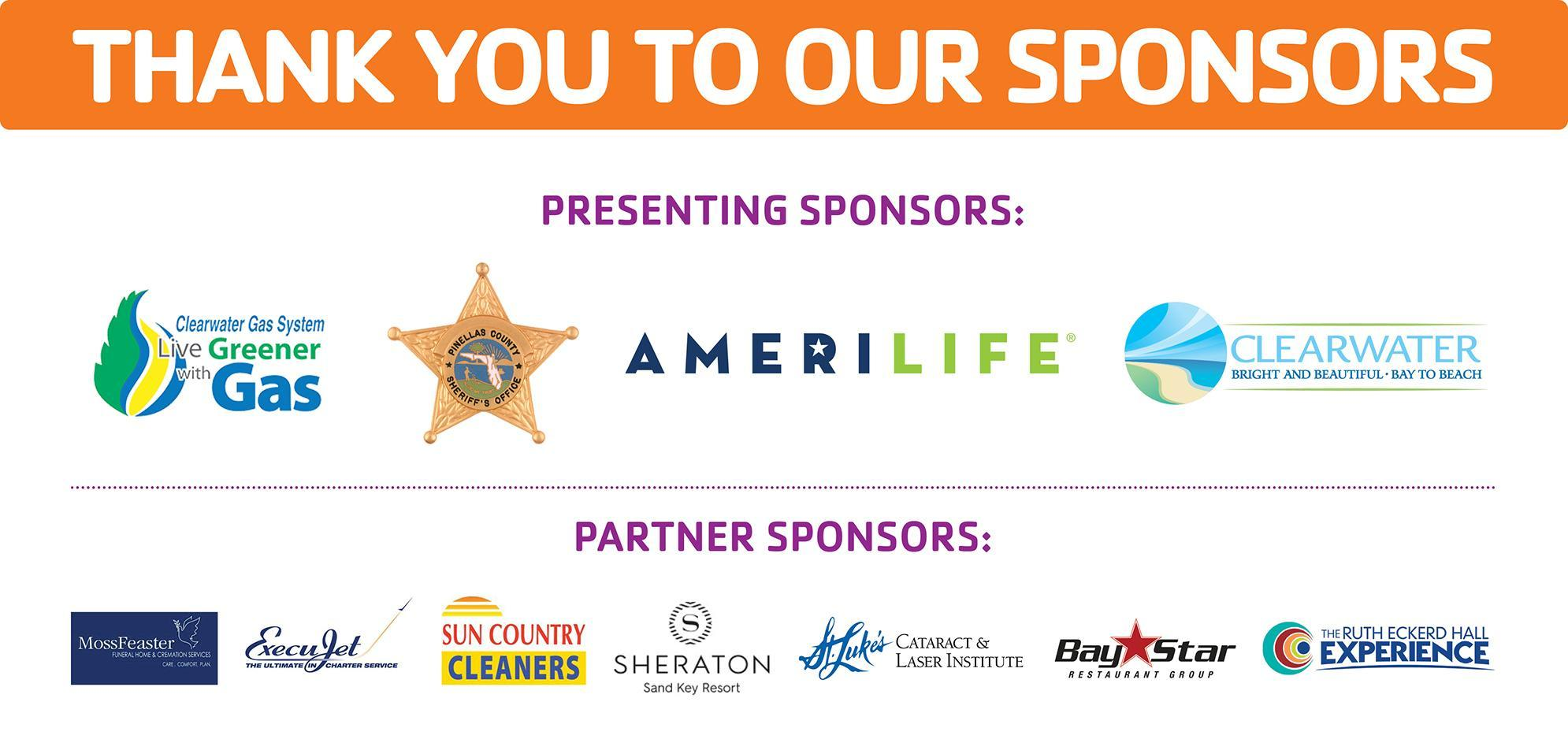 logos for all presenting and partner sponsors