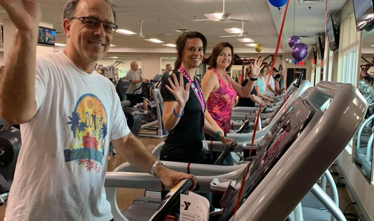 Members logged their miles on Treadmill Tuesday. Citrus County ended up having the most miles logged.