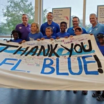 YMCA thanks Florida Blue for SAW Grant